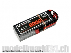 AGA-Power LiPo-Akku 5800mAh 11,1V 50C 3S2P Hard-Pack