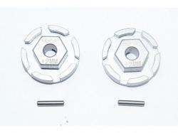 Aluminum Hex Adapter (+2mm) Grausilber -4Pc Set von GPM-Racing