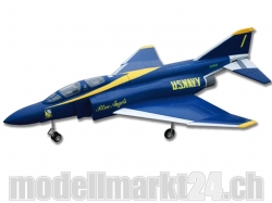 FlyFly F-4 Phantom, Spw.1040mm, Impeller-Jet, PNP-Bausatz, Blue Angels