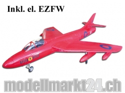 FlyFly Hawker Hunter, Spw.11120mm, Rot, Impeller-Jet, PNP-Bausatz