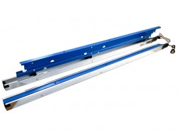 HEPF Elektrische Störklappen 440mm (Paar) 7,4V blau eloxiert