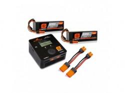 Smart Powerstage Bundle 8S 2x 5000mAh4S 100C Smart LiPo batt. 1x S2100 Smart  vo