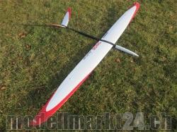 RCRCM Tango CFK (Carbon) Spw. 2.9m Schwarz/Weiss/Rot, RC Modellflugz..