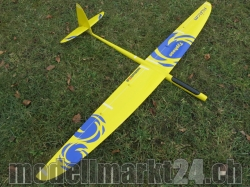 RCRCM E-Typhoon Spw.2,0m CFK (Carbon) Gelb/Blau Elektroversion, RC M..