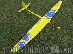 RCRCM E-Typhoon Spw.2,0m CFK (Carbon) Gelb/Blau mit Schutz..