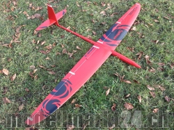 RCRCM Typhoon Spw.2,0m CFK (Carbon) Rot/Schwarz Seglerversion, RC Mo..
