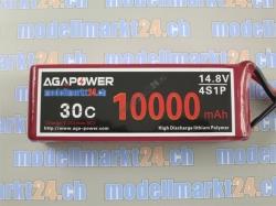 AGA-Power LiPo-Akku 10'000mAh 14,8V 30C 4S1P