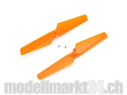 Blade 180QX Propeller Orange UZS & Gegen-UZS (CW- & CCW-Or..