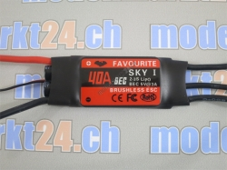 Favourite 40A Brushless ESC mit Linear-BEC 5V/3A Sky-Series