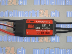 Favourite 80A Brushless ESC mit Switch-BEC 5V/4A Sky-Series