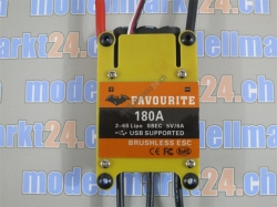 Favourite 180A Brushless ESC mit Switch-BEC 5V/6A Swallow-..