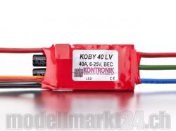 Kontronik Koby 40 LV Brushless ESC mit S-BEC 5-8V/3A