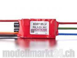 Kontronik Koby 55 LV Brushless ESC mit S-BEC 5-8V/3A