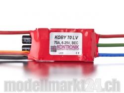 Kontronik Koby 70 LV Brushless ESC mit S-BEC 5-8V/3A