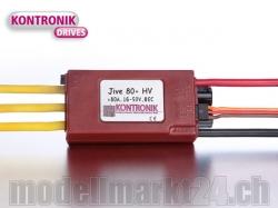 Kontronik JIVE 80+ HV Brushless ESC mit S-BEC 5-6V/5A