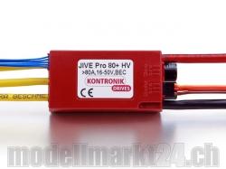 Kontronik JIVE Pro 80+ HV Brushless ESC mit S-BEC 5-8V/8A