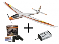 Anf�nger-Set Multiplex Panda Sport mit Simulator, Steuerung und Empf..