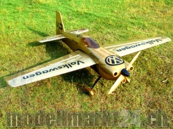 "AeroPlusRC Edge 540 V3 EX 76"" El.Version gold Volkswagen-Design"