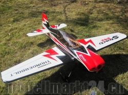 AeroPlusRC SBach 342 20CC Spw. 1,72m schwarz/weiss/rot