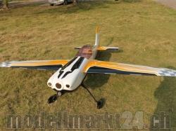 AeroPlusRC Corvus Racer 540 100CC Spw.2,74m weiss/orange/s..