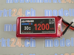 AGA-Power LiPo-Akku 1300mAh 11,1V 30C 3S1P