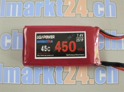 AGA-Power LiPo-Akku 450mAh 7,4V 45C 2S1P