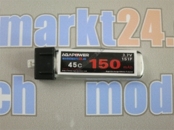 AGA-Power LiPo-Akku 150mAh 3,7V 45C 1S1P
