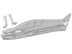 Multiplex Rumpf u. Fahrwerksverkleidung Parkmaster Pro