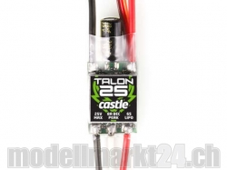 Castle Talon 25 25V 25A 6S Brushless ESC mit 8A BEC