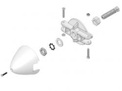 Multiplex Spinner d54 Kunststoff mit Blatthalter und Mitne..
