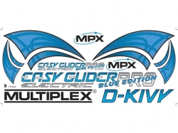 Multiplex Dekorbogen EasyGlider Pro electric blue edition