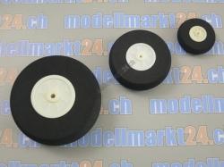Räder D30x1 Breite=11mm (weiss) Moosgummi 1Stk.