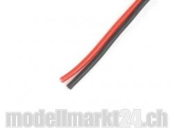 Hochflexibles Silikonkabel 0.6mm2 20AWG 196 Litzen rot/sch..