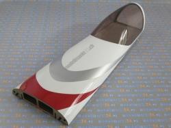 Kabinenhaube Extra 330SC 60cc Weiss/Rot/Silber von Aeroplu..