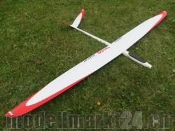 RCRCM E-Tango CFK+ (Carbon) Spw. 2.9m Weiss/Rot mit Schutz..