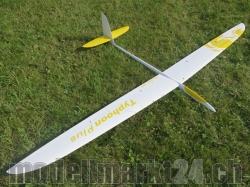 RCRCM Typhoon-Plus F3F Spw.2980mm CFK+ Weiss/Gelb mit Schu..