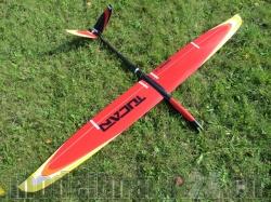 RCRCM E-Tucan Spw.2,0m CFK Rot/Orange/Weiss/Gelb mit Schut..