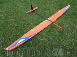 RCRCM Tabu Spw. 2.976m CFK (Carbon) Orange/Blau, RC Modell..