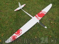 RCRCM E-Typhoon Spw.2,0m CFK (Carbon) Weiss/Rot mit Schutz..