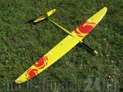 RCRCM E-Typhoon Spw.2,0m CFK (Carbon) Gelb/Rot mit Schutzt..