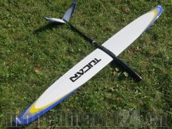 RCRCM E-Tucan Spw.2,0m CFK Weiss/Gelb/Grau/Blau mit Schutz..