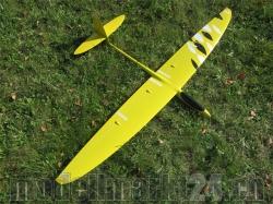 RCRCM Sunbird Spw.1,52m CFK Gelb/Weiss/Schwarz inkl. Schut..