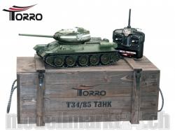 T34/85 RC Panzer 2.4 GHz 1/16 Profi-Metall BB Grün