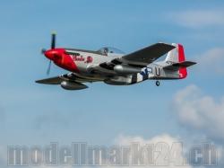 E-Flite P-51D Mustang BNF Basic Spw.1'219mm, Top-Ausstattung