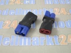 Adapter EC3 Stecker auf T-Plug Buchse 2Stk.