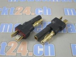 Adapter T-Plug Stecker auf Bullet 4mm 2Stk.