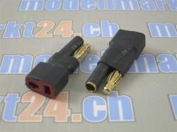 Adapter Bullet 4mm auf T-Plug Buchse 2Stk.