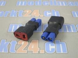 Adapter EC2 Stecker auf T-Plug Buchse 2Stk.