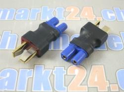 Adapter T-Plug Stecker auf EC2 Buchse 2Stk.