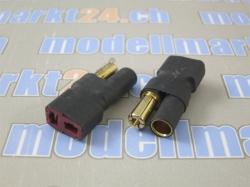 Adapter Bullet 5.5mm auf T-Plug Buchse 2Stk.